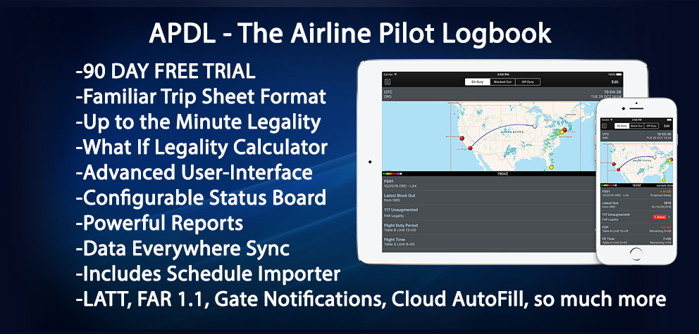 APDL - THE FAR 117 Airline Pilot Logbook