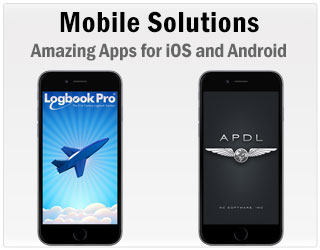 Take Logbook Pro or Airline Pilot's Daily Aviation logbook on your favorite PDA or cell phone and enjoy the power of Logbook Pro or APDL in the palm of your hand.  Download free apps for iPhone, iPod touch, iPad, Android, Kindle Fire, and NOOK.