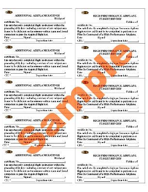 Peel & Stick Endorsement Labels for Custom Leather Binders for Logbook Pro Flight Logbook