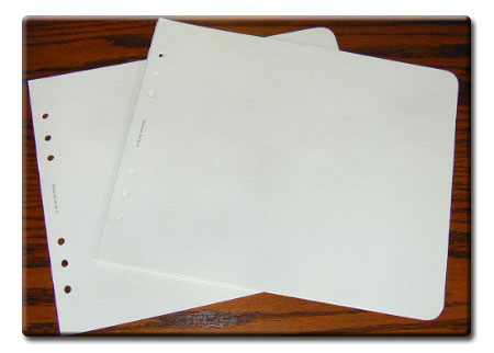 Paper Inserts for Full Size Carry Model Custom Binders for Logbook Pro Aviation Fight Log