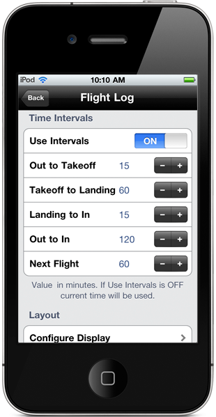 Use Intervals setting