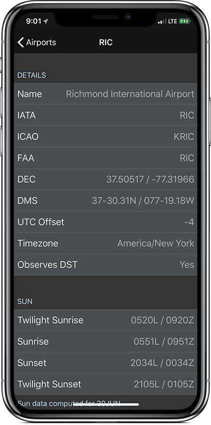Airport Info View